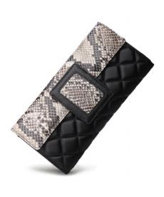 Kožená peněženka s motivem hadí kůže