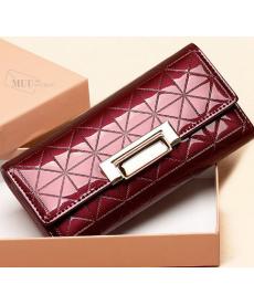 Luxusní lesklá dámská peněženka