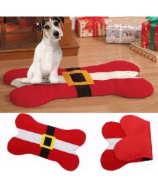 Vánoční sedák pro psy ve tvaru psí kosti
