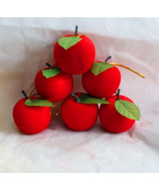 Vánoční ozdoby - červená jablka