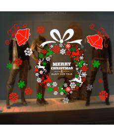 Vánoční samolepka do okna
