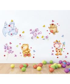 Dětská samolepka na zeď - medvídci