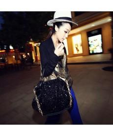 Černá kabelka s flitry