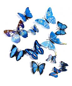 Barevní motýlci - samolepka na zeď