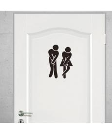 Samolepky na dveře od WC