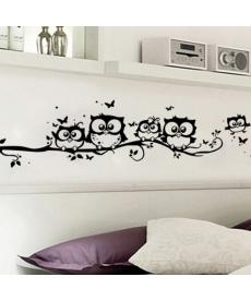 Samolepka na zeď - sovičky