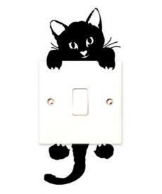 Roztomilá kočička - samolepka
