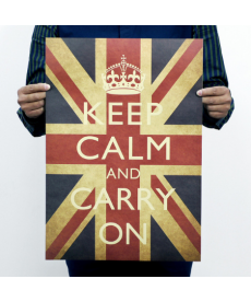 "Samolepka - ""Keep calm and carry on"""