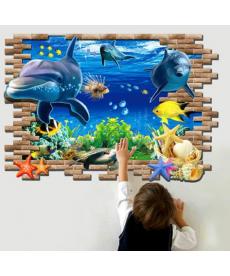 3D samolepka - podmořský svět - výřez