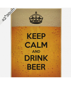 "Samolepka - ""Keep calm and drink beer"""