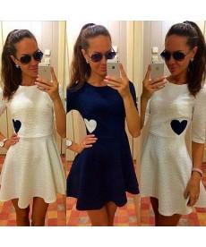 Dámské mini šaty se srdcem