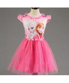 Dívčí šaty s krajkou a flitry