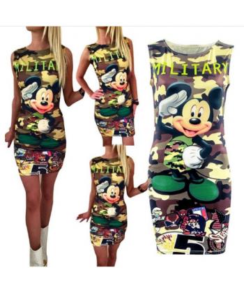 e6867cba5e9 Letní dámské šaty s potiskem Minnie a Mickey Mouse