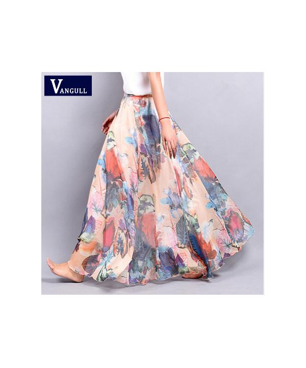 c223fe548547 Vzdušná dlouhá letní sukně v mnoha barvách