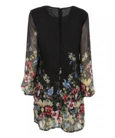 Šifonové letní šaty s dlouhým rukávem