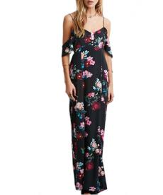 Květinové dlouhé šaty
