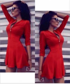 Elegantní jednobarevné šaty