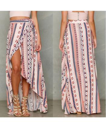 83abb087d5e Dámská dlouhá zavinovací sukně s orientálním vzorem