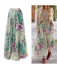 Maxi květinová sukně