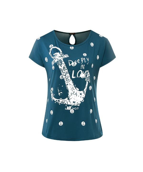 d5db6cc72475 Dámské námořnické tričko s kotvou