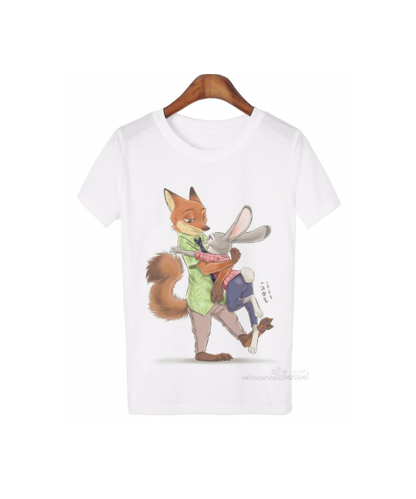 479a542ebbd8 Dámské tričko v bílé barvě s roztomilým potiskem