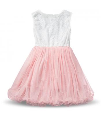1edba38bd028 Dívčí společenské krajkové šaty se zdobenou extra nabíranou tutu sukní