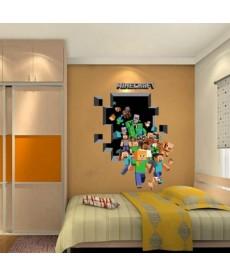 Minecraft 3D nálepka
