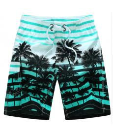Letní pánské bermudy s palmami