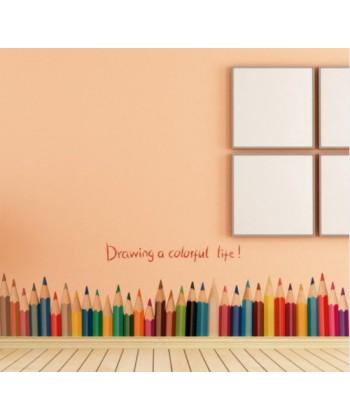 Tužky - nálepka na zeď