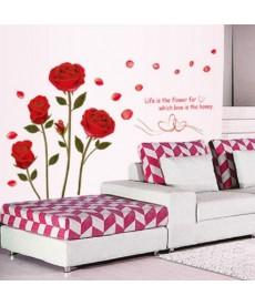 Růže - nálepka na zeď