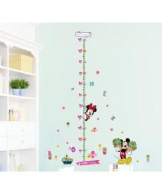 Mickey Mouse měřítko- nálepka na zeď
