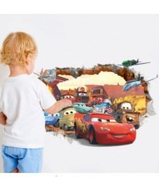 Auta - 3D nálepka na zeď