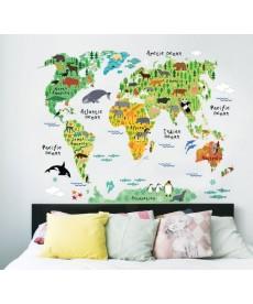 Dětská mapa světa - nálepka