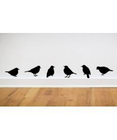 Ptáci - nálepka na zeď