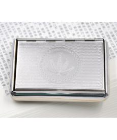 Metalické pouzdro na tabák s prostorem na papírky