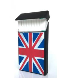 Krabička na cigarety s anglickou vlajkou