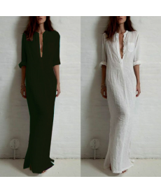 Krásné dlouhé jednoduché šaty