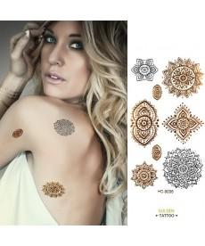 Zlaté a stříbrné tetování