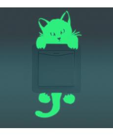 Svítící obrázek na vypínač kočka