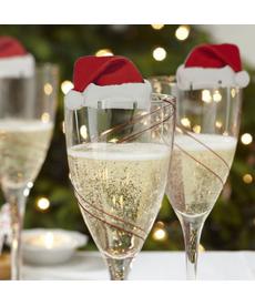 Vánoční dekorace na skleničky