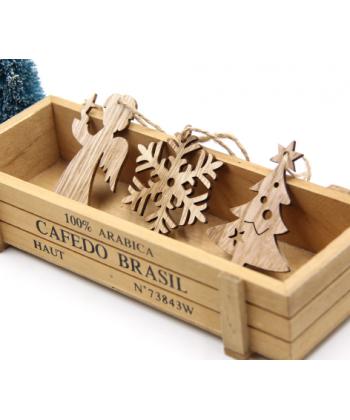 Sada dřevěných vánočních ozdob