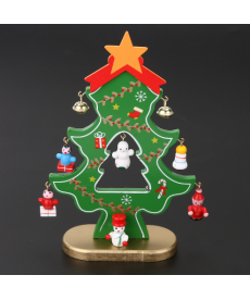 Vánoční dekorační strom ze dřeva