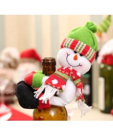 Vánoční dekorační postavičky na láhev