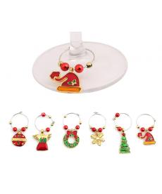 Set dekoračních kovových kroužků s vánočním motivem