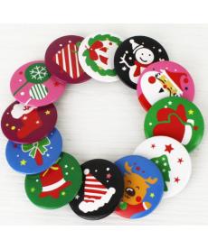 Sada vánočních odznaků