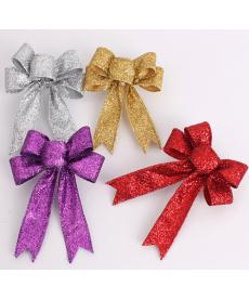 Vánoční ozdoba s glitry - mašle