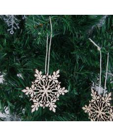 Sada dřevěných vánoční vloček