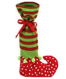 Vánoční dárková taška na láhev - elf