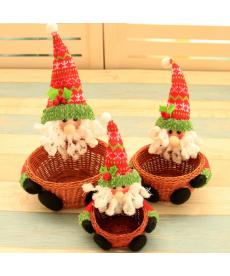 Sada dekoračních vánočních košíků
