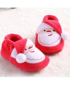 Vánoční kojenecké bačkorky